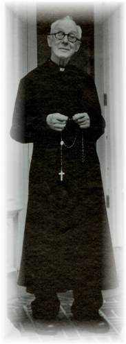 Fr. Hardon with Rosary